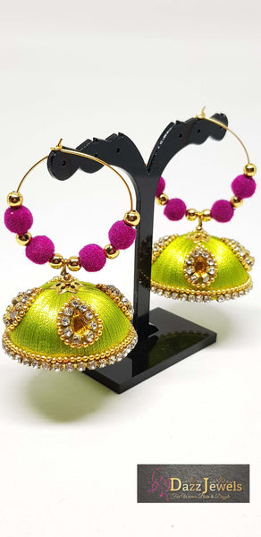 Silk Thread Jhumka 1