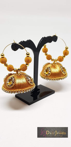 Silk Thread Jhumka 3