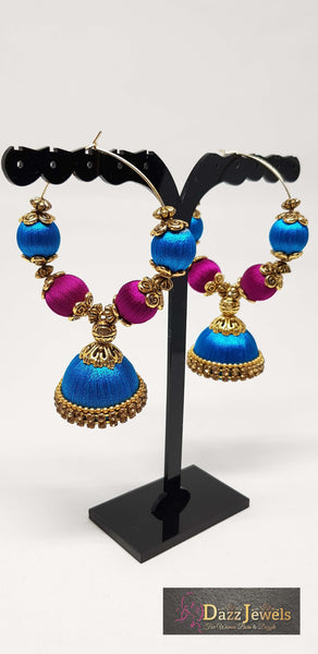 Silk Thread Jhumka 21