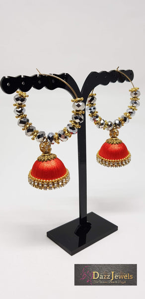 Silk Thread Jhumka 13