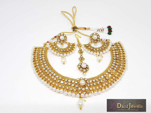 Polki Necklace Set 48