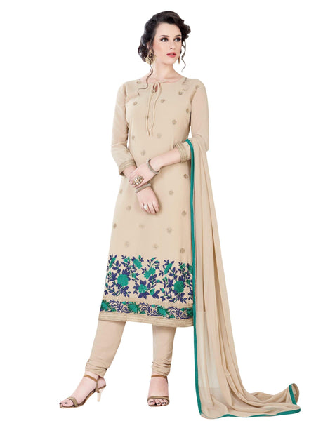 Styleez Salwar Kameez 148 Elegant Contrast Floral Resham Thread Work With Jardoshi Work & Crystal, Ready Lace