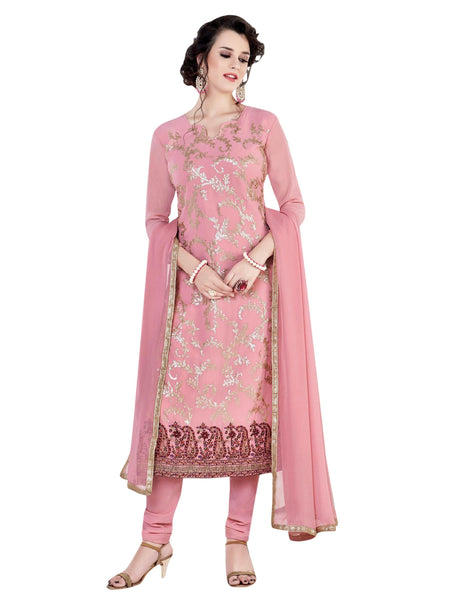 Styleez Salwar Kameez 149 All Over Sequin Work With Contrast Lakhnavi Work & Crystal