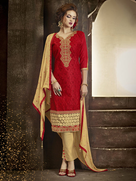 Styleez Salwar Kameez 170 All Over Resham Thread Work With Cording Work & Patch Work