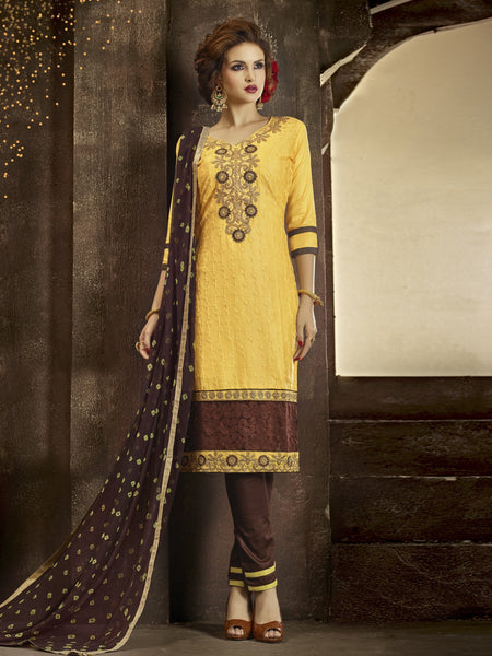 Styleez Salwar Kameez 172 All Over Resham Thread Work With Cording Work & Patch Work