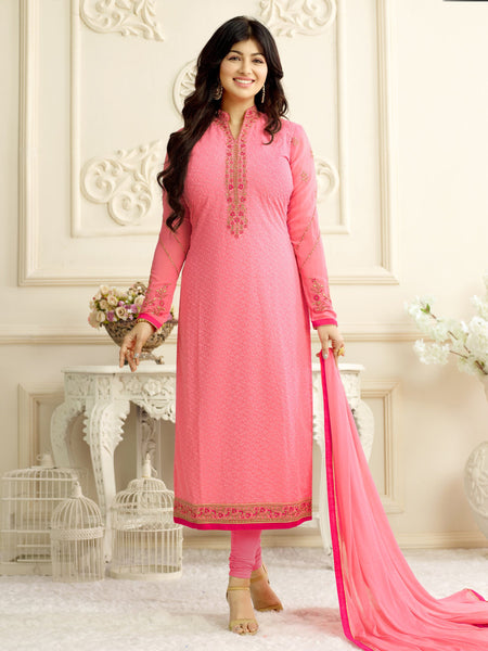 Styleez Salwar Kameez 206 All Over Floral Chikan Work With Traditional Jardoshi Work