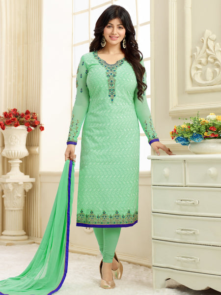 Styleez Salwar Kameez 207 All Over Floral Chikan Work With Traditional Jardoshi Work