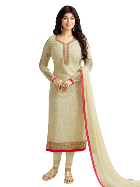 Styleez Salwar Kameez 209 All Over Floral Chikan Work With Traditional Jardoshi Work