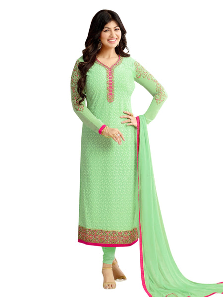 Styleez Salwar Kameez 211 All Over Floral Chikan Work With Traditional Jardoshi Work