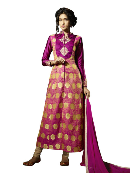 Styleez Salwar Kameez 212 Elegant Jardoshi Work Patch & Designer Pattern With Jacquard Fabric