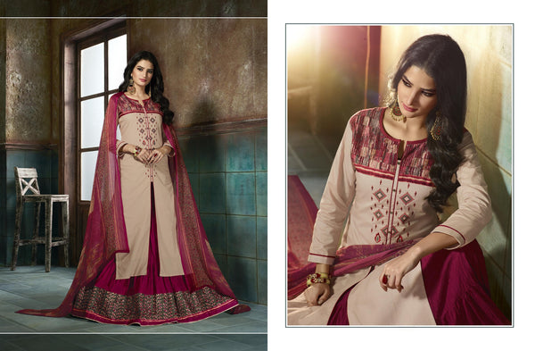 Pretty Patiyala Purple color good Embroidery Lace Salwar kameez 403