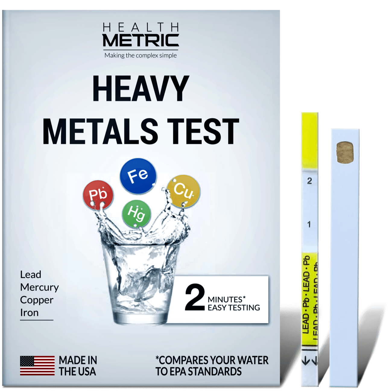 Heavy Metals Home Test Kit - Lead, Mercury, Copper, Iron