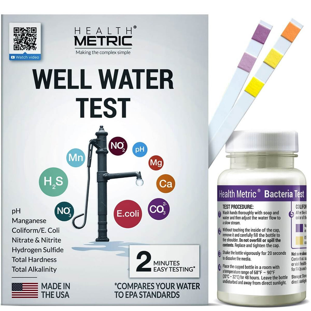 well water test kit health metric