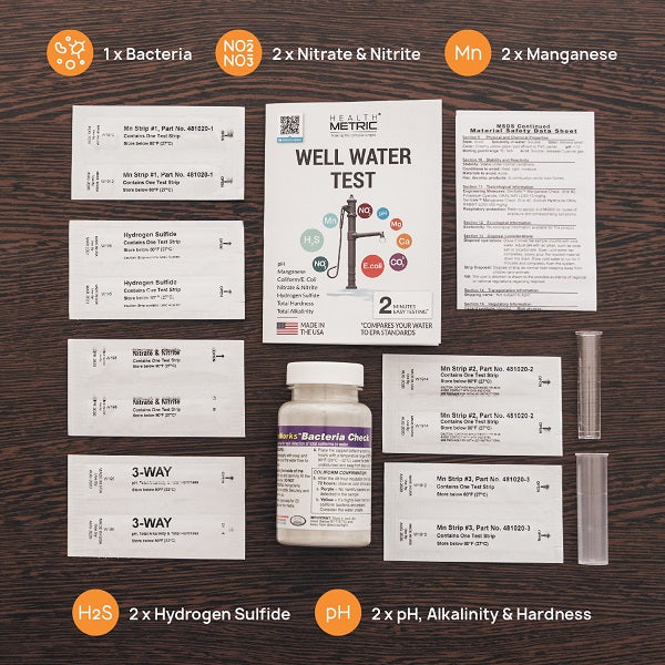 Well Water Test Kit - 8in1 Well Analysis