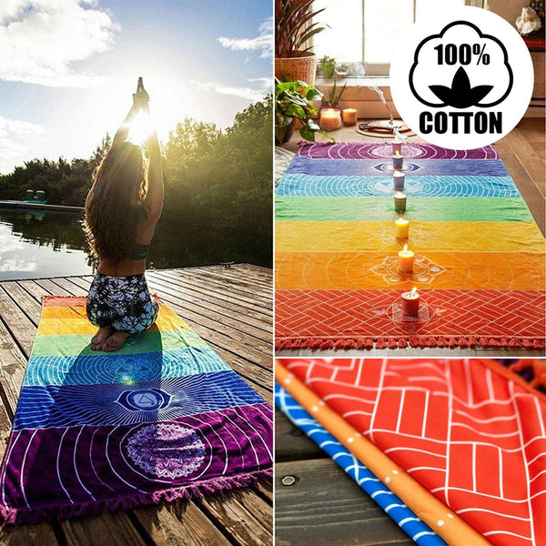 Mat - 100% COTTON 7 CHAKRAS MEDITATION MAT