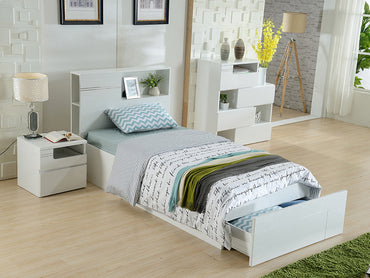 angela king single bed with bed end drawer