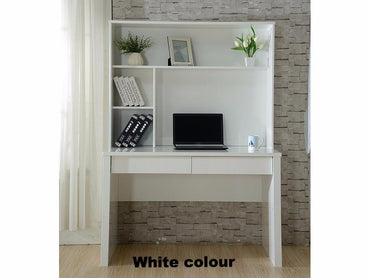 desk with hutch in white gloss colour