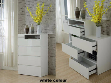 extension tallboy in white gloss colour