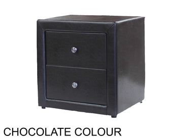 oscar bedside table in chocolate colour