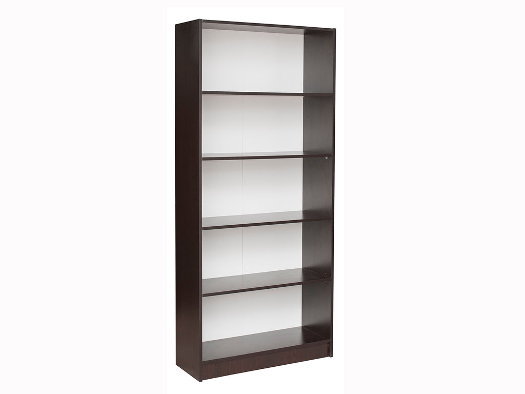 Missini Bookcase with impact-resistant edging in walnut colour