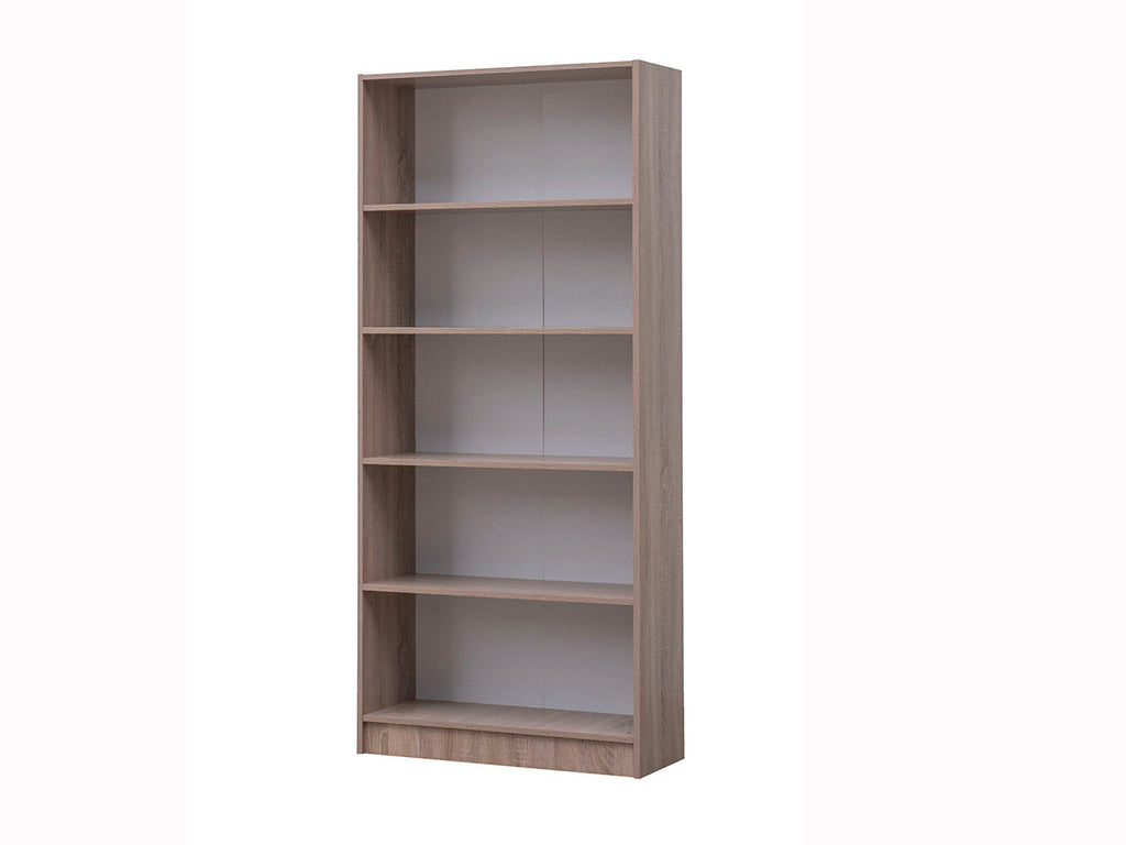 Missini Bookcase with impact-resistant edging in oak colour