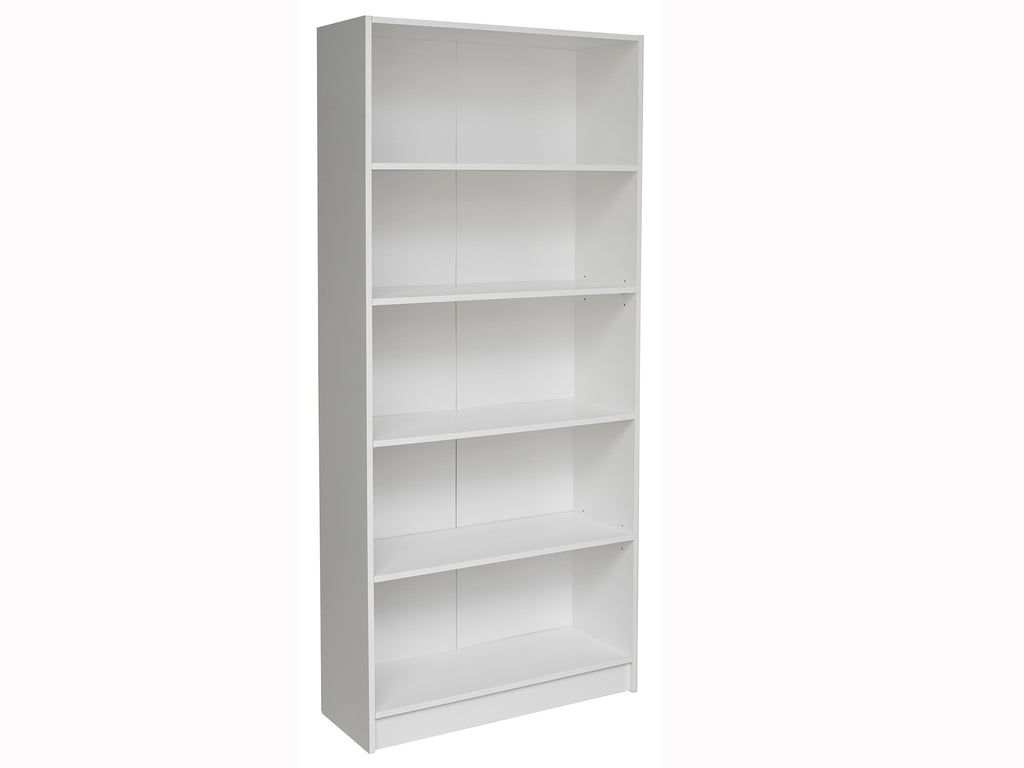 Missini Bookcase with impact-resistant edging in white colour