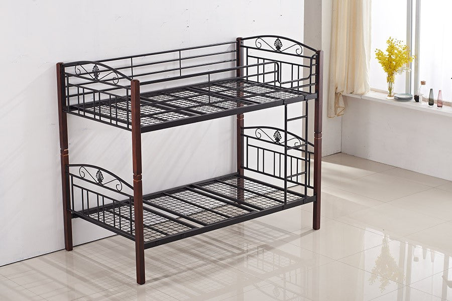 Metal And Timber Bunk Bed