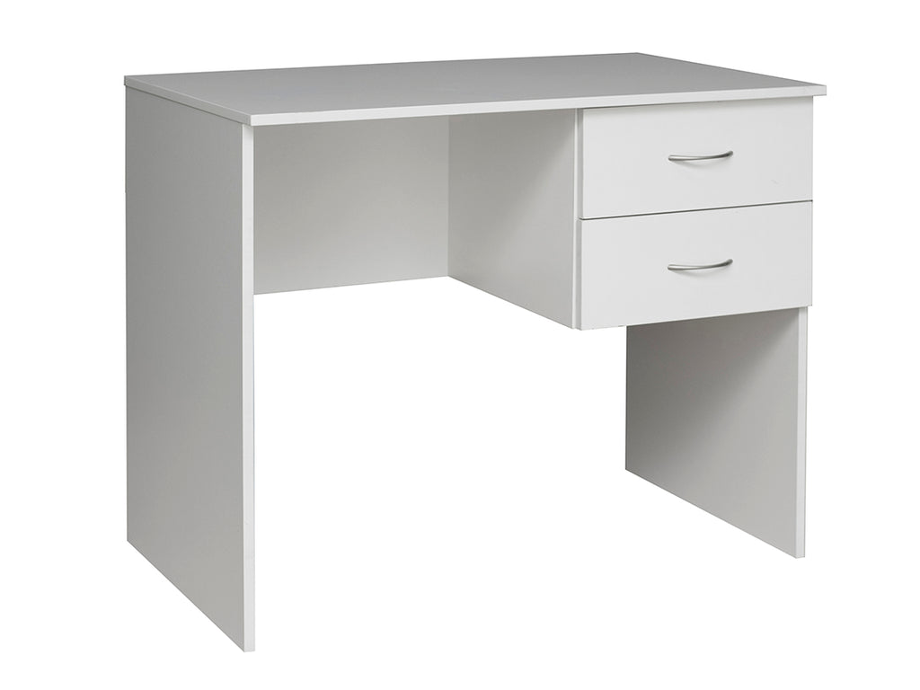 Student small Study Desk with 2 drawers in white colour