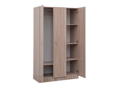 Ciara wardrobe 3 doors oak colour