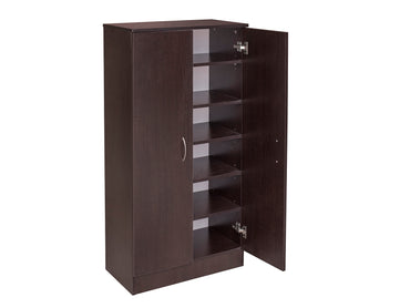 Missini Shoes Cabinet with 5 shelves in walnut colour
