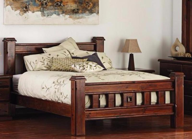 solid timber bed frame