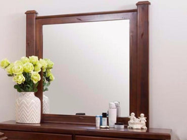 rustic dresser with mirror