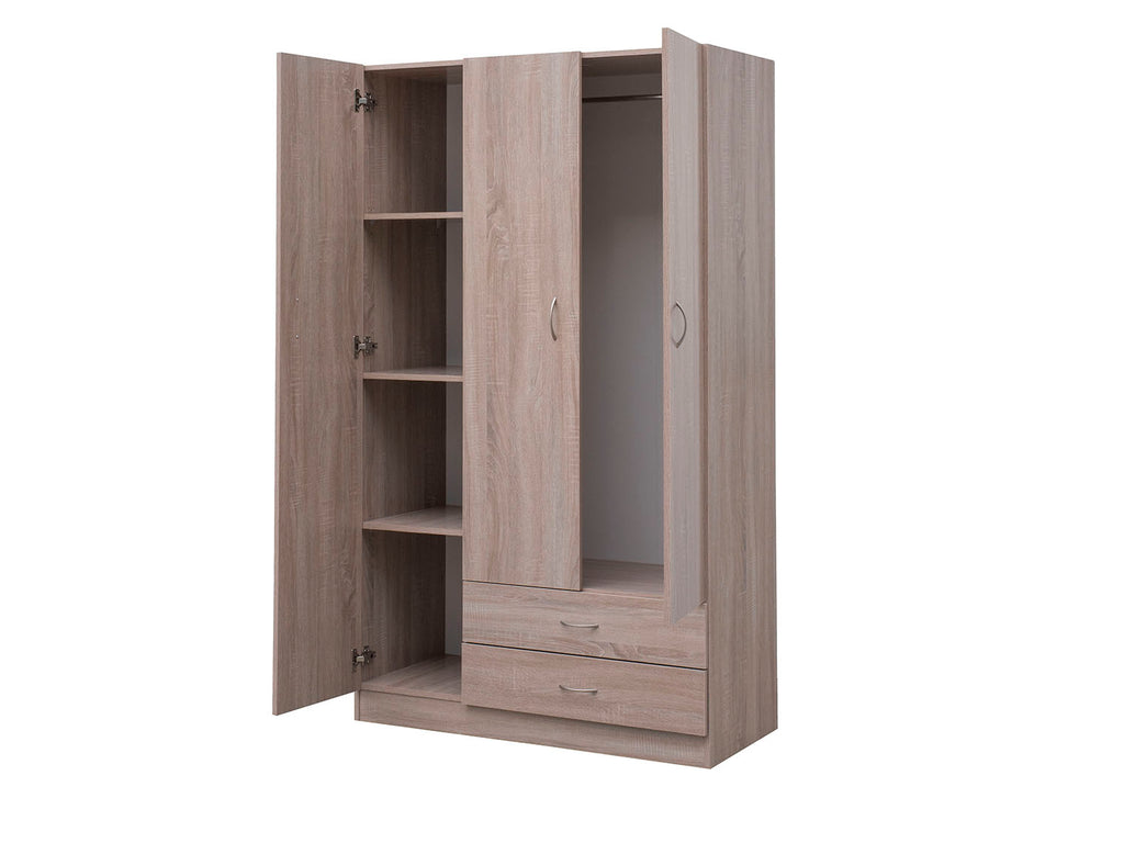 Missini Utility Wardrobe with drawers and 3 doors