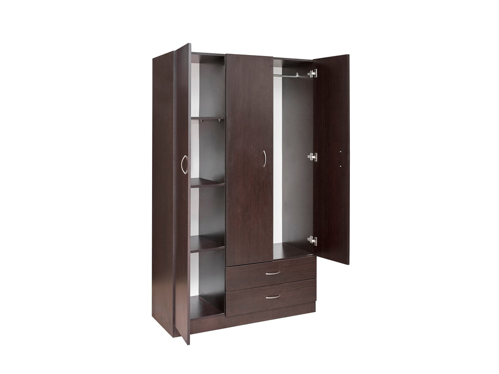 Missini Utility Wardrobe with drawers, shelves, hanging space