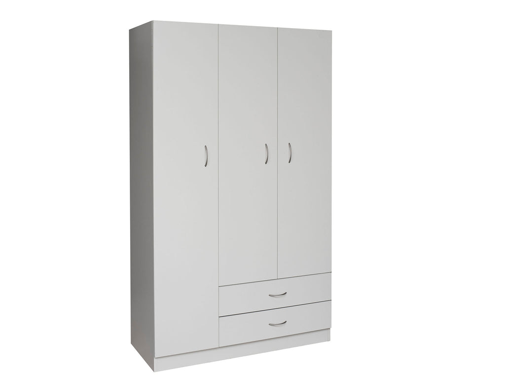 Missini Utility Wardrobe with drawers in white colour