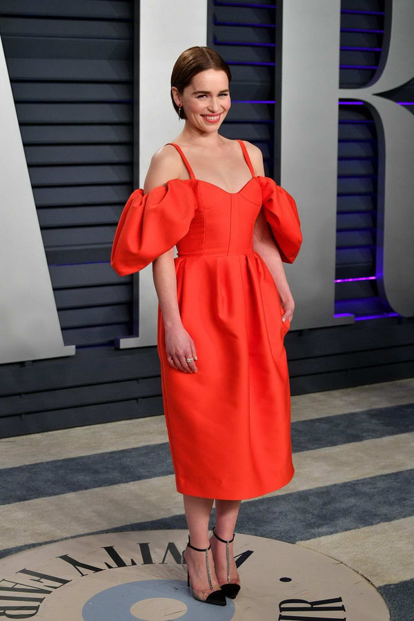 Emilia Clarke 02.2019 at the Vanity Fair Oscars Party
