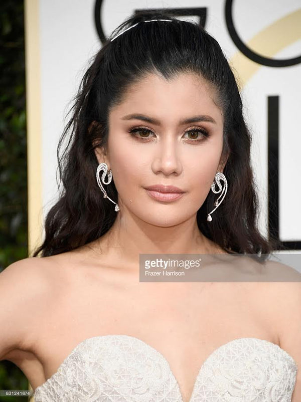 Praya Lundberg at the Golden Globes 2017