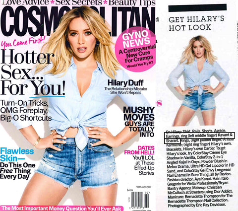 Cosmopolitan magazine Feb 2017 issue Hilary Duff Cover