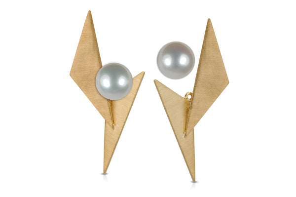 GeoArt DUO TT Brushed Ear Jacket - Earrings