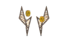 GeoArt DUO TT Mesh Ear Jacket - Earrings