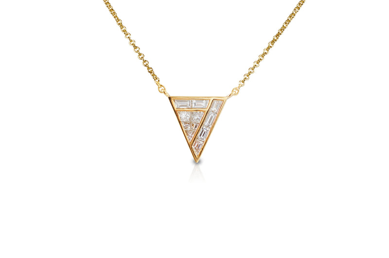 GeoArt Back to Basics Trillion Puzzle Diamond Necklace