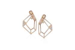 Origami Link no.5 Single Skeleton Earrings Medium