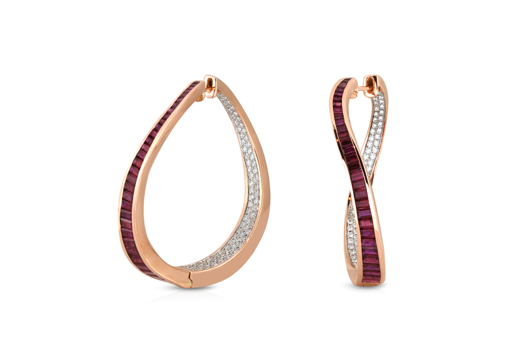 Talay Wave Twist Hoop Earrings (large)