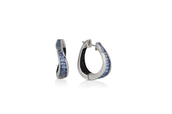 Talay Wave Twist Hoop Earrings (small)
