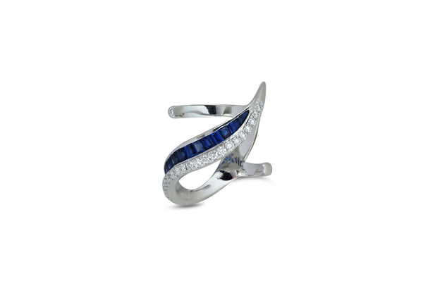 Talay 19 Diagonal Wave Ring