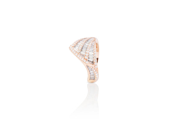 Talay Wave II Rose Gold Diamond Ring