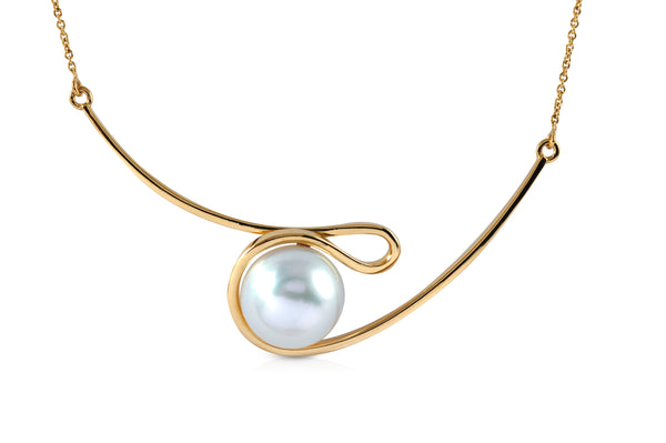 Talay South Sea Pearl Silhouette Necklace