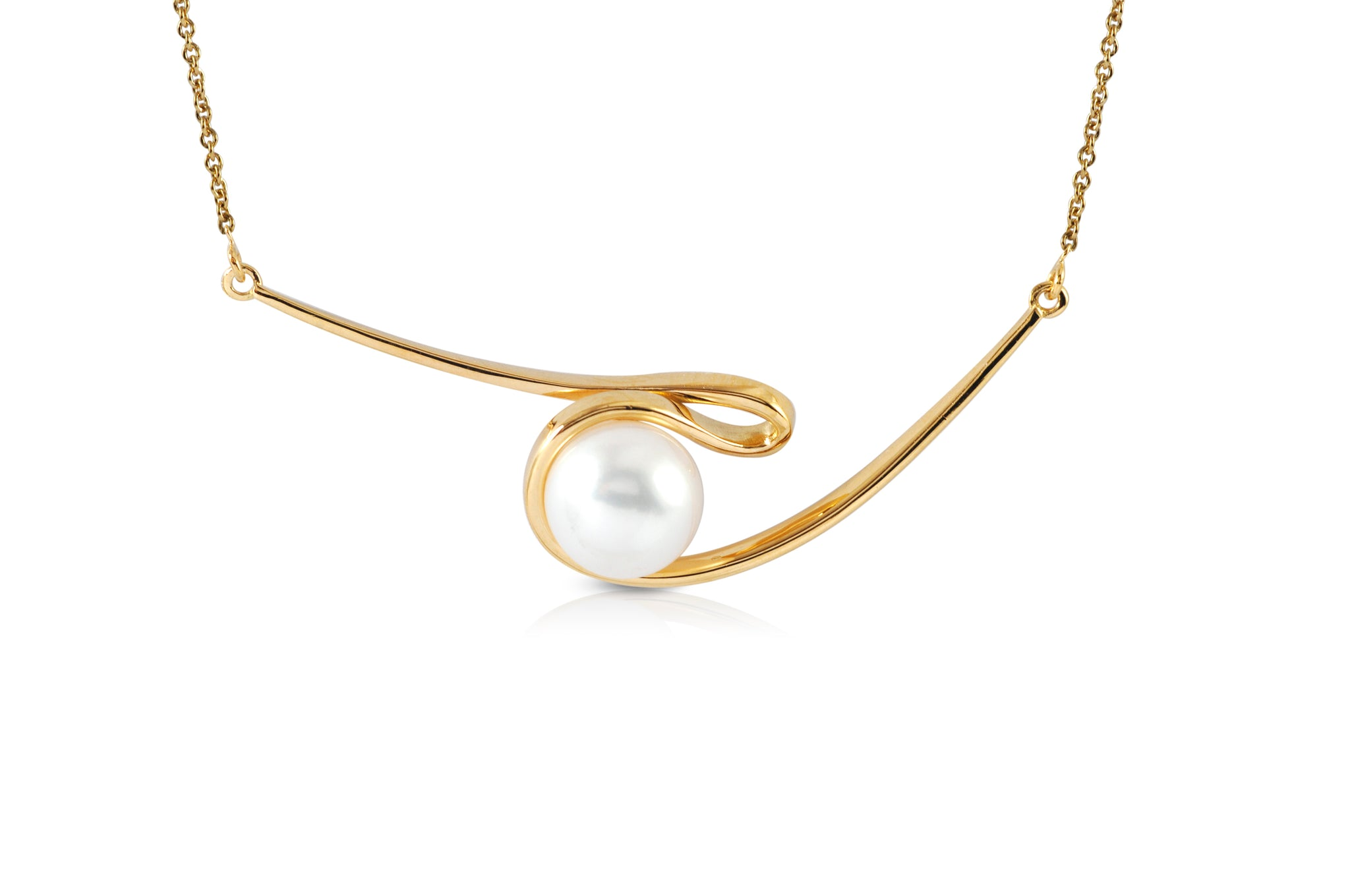 Talay Akoya Pearl Silhouette Necklace
