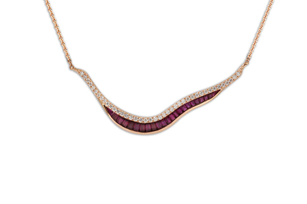 Talay Wave 19 Ruby & Diamond Necklace