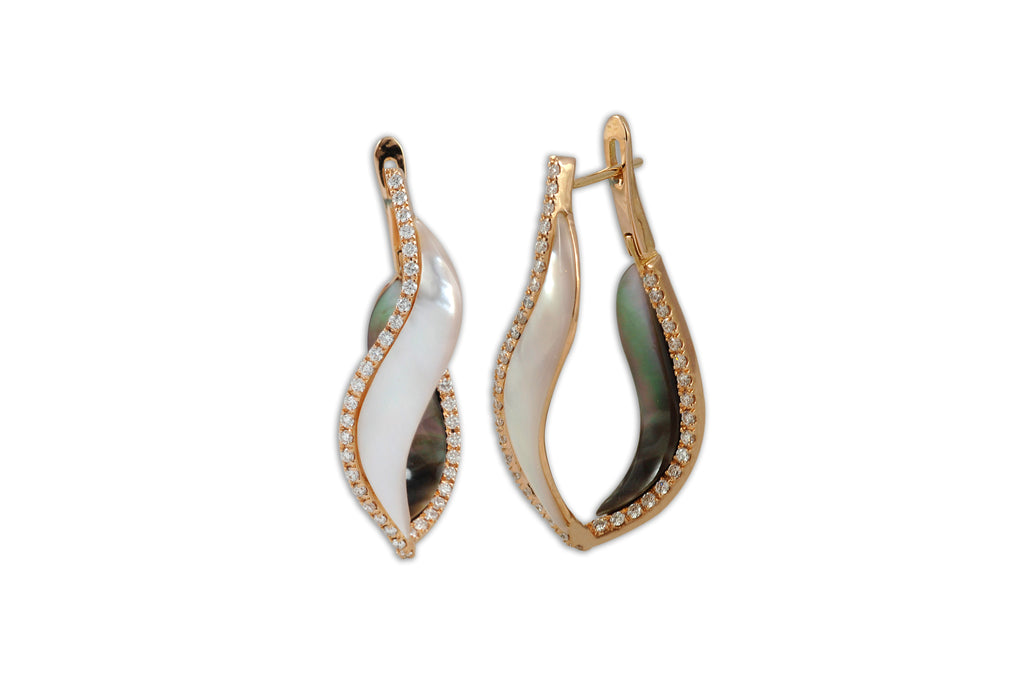Talay Wave Twist Hoop Earrings (medium)